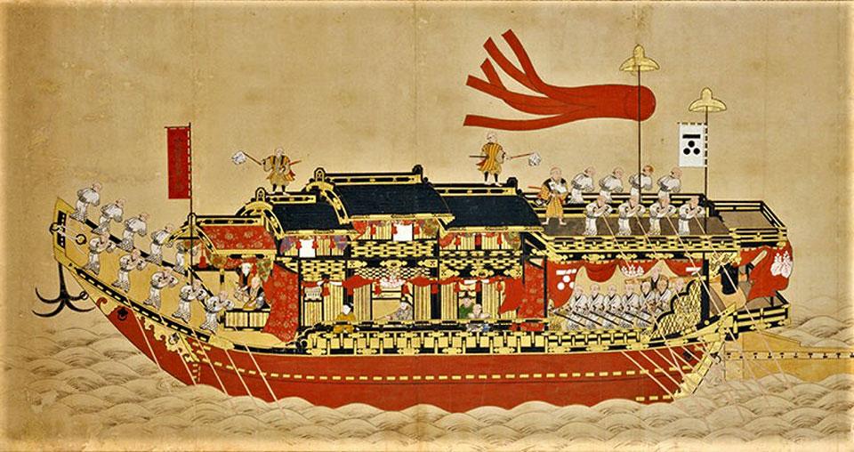 正徳度朝鮮通信使上々官第三船図