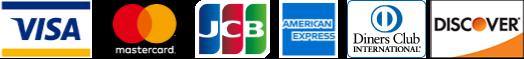 利用可能なカード(VISA,Master,JCB,Amex,Diner's,Discover)